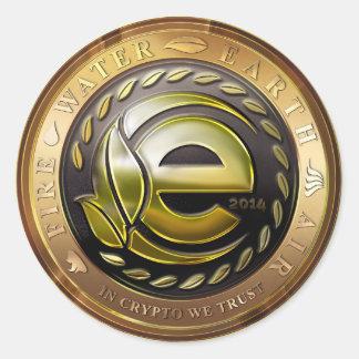 Earthcoin logo classic round sticker