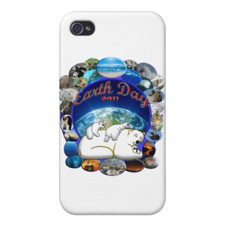 EARTHDAY 2011 DESIGN FROM DAVID M BOOTH iPhone 4 CASE