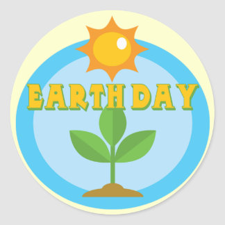 Earthday Shirts and Gifts Round Sticker