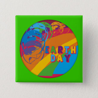 Earthday T Shirts and Gifts 15 Cm Square Badge