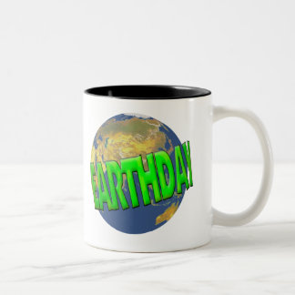 Earthday T Shirts and Gifts Two-Tone Coffee Mug