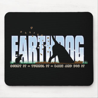 Earthdog color design mouse pad