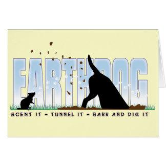 Earthdog colour design greeting card