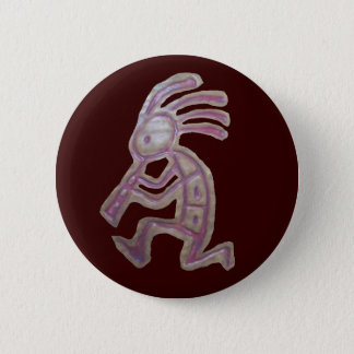 Earthenware Kokopelli 6 Cm Round Badge