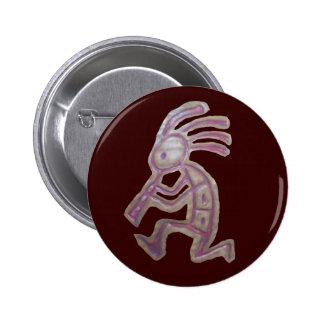 Earthenware Kokopelli Pinback Buttons