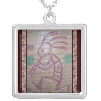 Earthenware Kokopelli Silver Plated Necklace