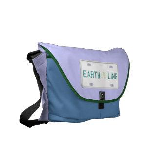 Earthling License Plate Messenger Bag