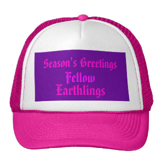 """Earthlings"" Funny Xmas Humor / House-of-Grosch Cap"