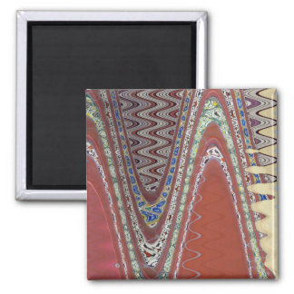 Earthly Abstract Fridge Magnet