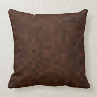 Earthly Brown Mosaic Tiles Pattern, Cushion