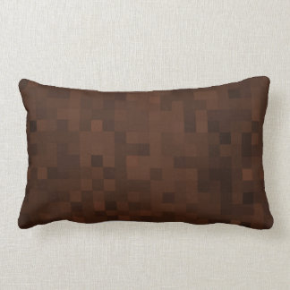 Earthly Browns Mosaic Tiles Pattern, Lumbar Cushion
