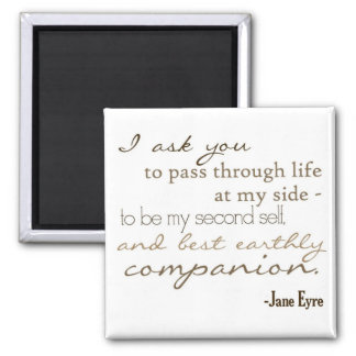 Earthly Companion Square Magnet