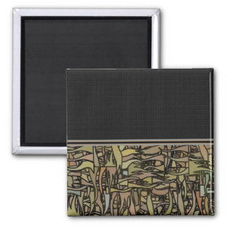 Earthly Delight Gliftex Abstract Square Magnet