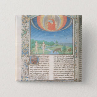 Earthly Paradise, a Book on Seven Ages of  World 15 Cm Square Badge