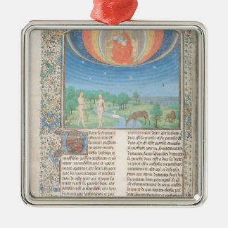 Earthly Paradise, a Book on Seven Ages of  World Silver-Colored Square Decoration