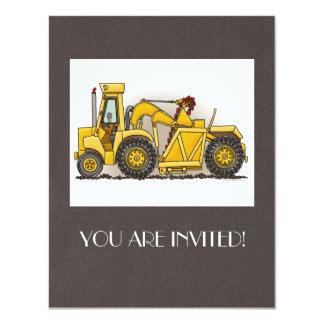 Earthmover Construction 11 Cm X 14 Cm Invitation Card