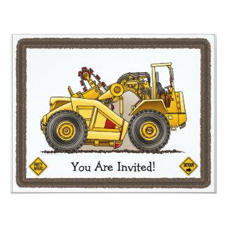 Earthmover Scraper Kids Party Invitation