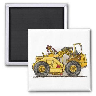 Earthmover Scraper Square Magnet