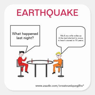 Earthquake Cartoon Sticker