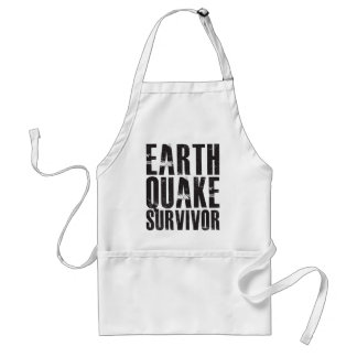 Earthquake Survivor - Black Standard Apron