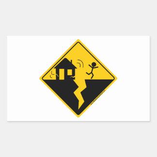 Earthquake Warning Merchandise and Clothing Rectangular Sticker