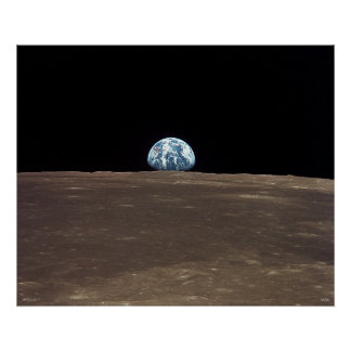 Earthrise - Apollo 11 Poster