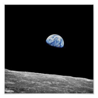 Earthrise - Apollo 8 Poster
