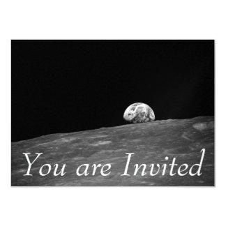Earthrise from Apollo 8 Moon Mission 11 Cm X 16 Cm Invitation Card