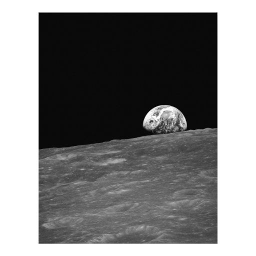 Earthrise from Apollo 8 Moon Mission Flyer Design