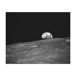 Earthrise from Apollo 8 Moon Mission Gallery Wrapped Canvas