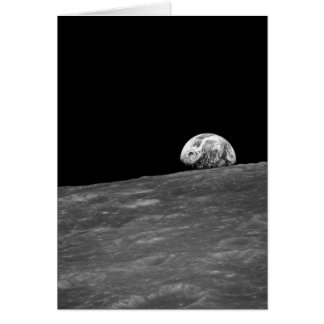 Earthrise from Apollo 8 Moon Mission Greeting Card