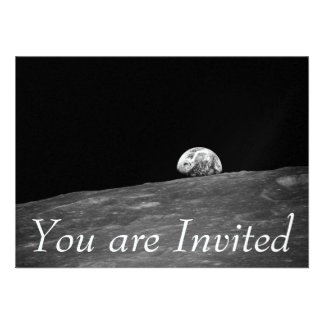 Earthrise from Apollo 8 Moon Mission Personalized Invitation