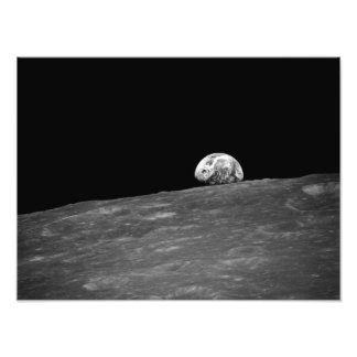 Earthrise from Apollo 8 Moon Mission Photo Art