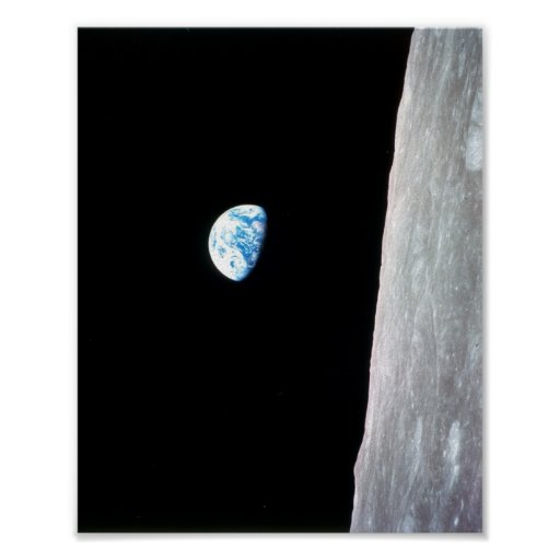 Earthrise from Apollo 8 Print