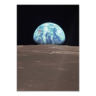 Earthrise from the Moon 11 Cm X 16 Cm Invitation Card