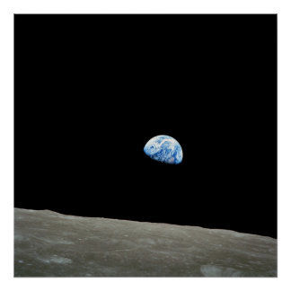 Earthrise From the Moon Apollo 8 Poster