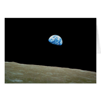 Earthrise taken by the Apollo 8 Mission Card