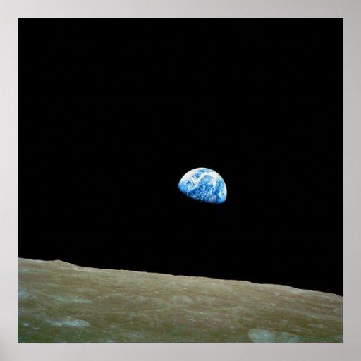 Earthrise Taken by the Apollo 8 Mission Crew Print