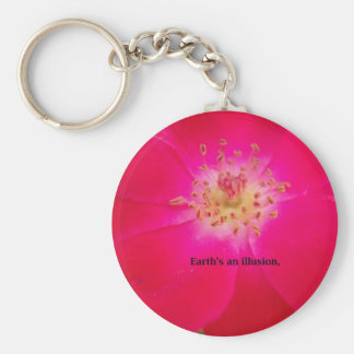 Earth's an Illusion Basic Round Button Key Ring