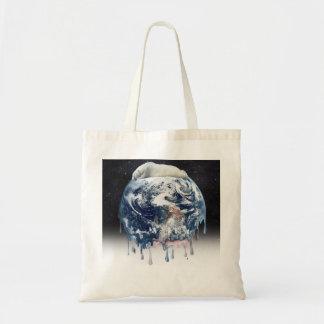 Earth's Bear Hug (w/Half Universe Background) Bags