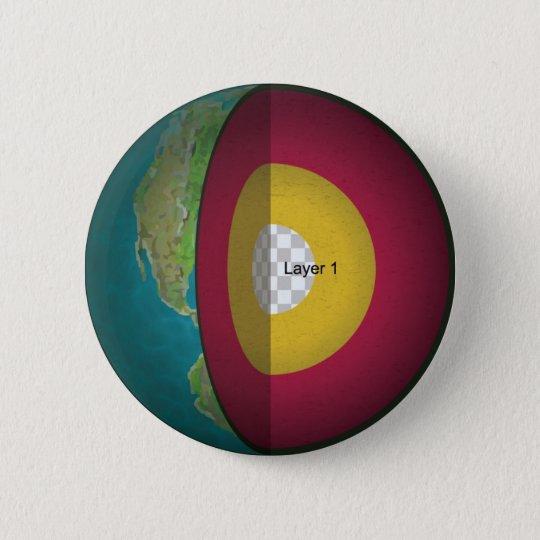 Earth's Core 6 Cm Round Badge