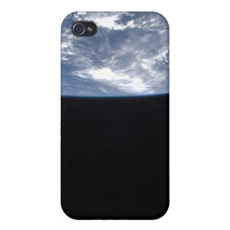 Earth's horizon and the blackness of space 2 covers for iPhone 4