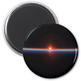 Earth's Horizon 6 Cm Round Magnet