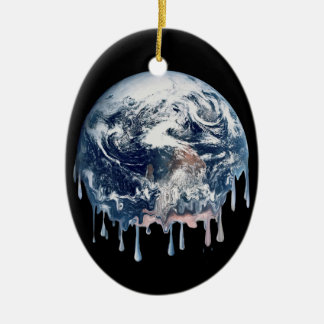 Earth's Meltdown Ceramic Oval Decoration