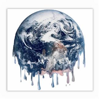 Earth's Meltdown Standing Photo Sculpture