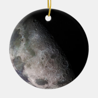 Earth's Moon Round Ceramic Decoration
