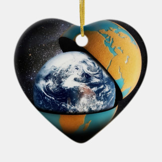 Earth's Protective Cover Ceramic Heart Decoration