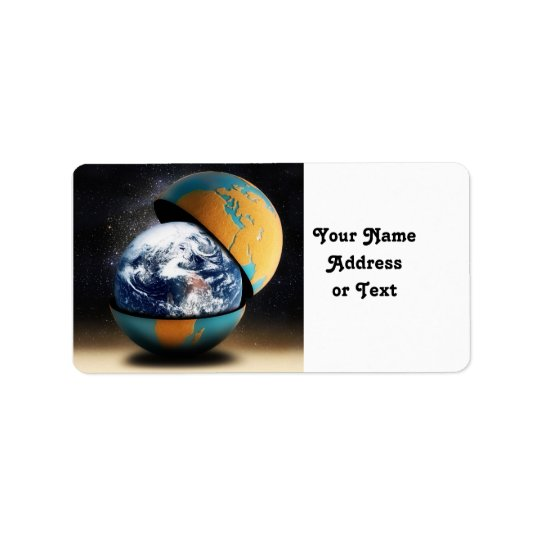 Earth's Protective Cover Label