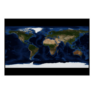 Earth's Surface 78x52 (72x48) Poster