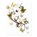 EarthTone Butterflies Post Card